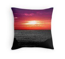 Purple Geraldton Throw Pillow
