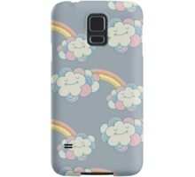 Vector seamless pattern with the clouds and rainbow Samsung Galaxy Case/Skin