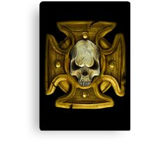 Cross and Skull Honour Badge Canvas Print