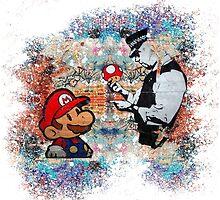 Super Mario London Police Mushroom Funny Street Art by baray7
