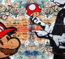 Super Mario London Police Mushroom Funny Street Art Sticker