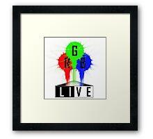 Live-RGB Framed Print