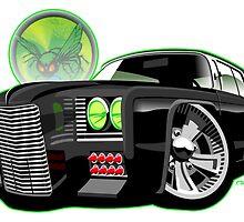 Green Hornet Black Beauty Chrysler caricature by car2oonz