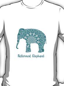 Mandala patterned vector elephant. Indian motives T-Shirt