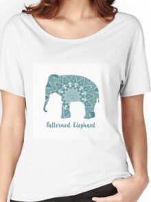 Mandala patterned vector elephant. Indian motives Women's Relaxed Fit T-Shirt
