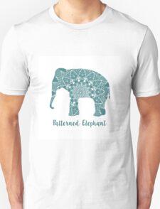 Mandala patterned vector elephant. Indian motives Unisex T-Shirt