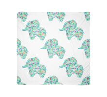 watercolor floral patterned elephant seamless pattern Scarf
