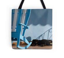 Sleeping dog & rocking chair, Cuba Tote Bag