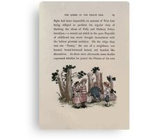 The Queen of Pirate Isle Bret Harte, Edmund Evans, Kate Greenaway 1886 0027 In the Woods Canvas Print