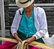 Straw Weaving Is A Dying Art by Al Bourassa