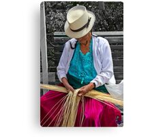 Straw Weaving Is A Dying Art Canvas Print