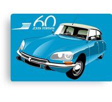 Citroën DS 60 years blue Canvas Print