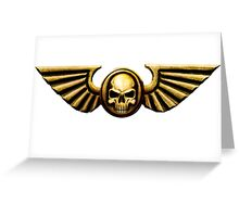 Imperial Skull and Wings Gold Greeting Card