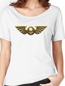 Imperial Skull and Wings Gold Women's Relaxed Fit T-Shirt