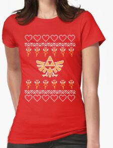 Hylian Holiday Sweater Womens Fitted T-Shirt