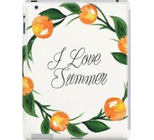 Fruit plum watercolor floral  invitation wreath background iPad Case/Skin