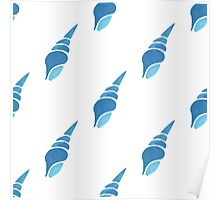 Seashell vector seamless summer pattern Poster