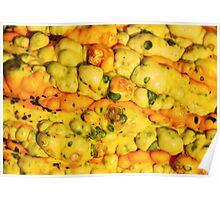 Golden gourd texture Poster