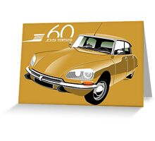 Citroën DS 60 years gold Greeting Card