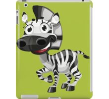 Cute smiling zebra iPad Case/Skin