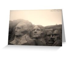 Mount Rushmore in Sepia Greeting Card