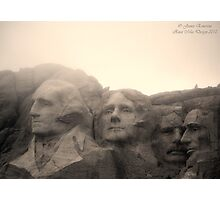 Mount Rushmore in Sepia Photographic Print