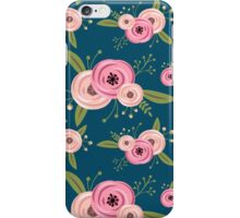 Vector seamless pattern with roses iPhone Case/Skin