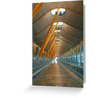 Madrid Airport Greeting Card