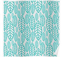 Vector leaf seamless pattern Poster