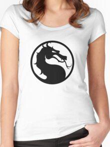 Mortal Kombat - Black Logo Women's Fitted Scoop T-Shirt