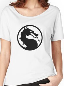 Mortal Kombat - Black Logo Women's Relaxed Fit T-Shirt
