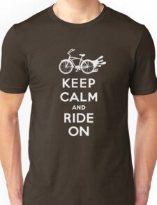 Keep Calm and Ride On - cruiser - white fonts 1 T-Shirt