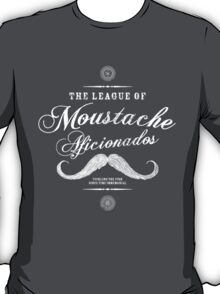 Movember - Moustache Afficionado League white T-Shirt