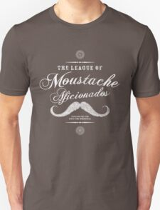 Movember - Moustache Afficionado League white T-Shirt