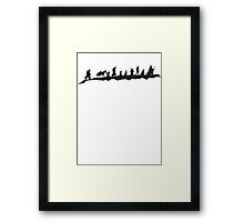 The Fellowship of The Ring (black) Framed Print