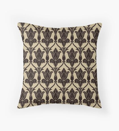 Baker Street 221b Wallpaper Throw Pillow