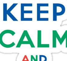 Keep Calm and Ride On - mountain bike - primary Sticker