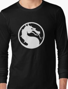 Mortal Kombat - White Logo Long Sleeve T-Shirt