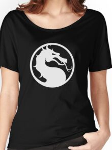 Mortal Kombat - White Logo Women's Relaxed Fit T-Shirt