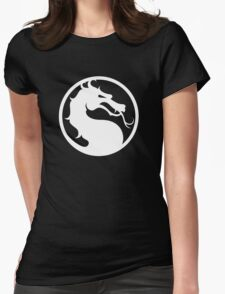 Mortal Kombat - White Logo Womens Fitted T-Shirt