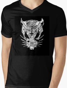 Black ZEF Graffiti Rat Mens V-Neck T-Shirt