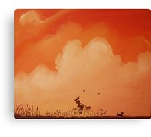 """painting """"Lost in France"""" canvas wall art modern contemporay design Canvas Print"""