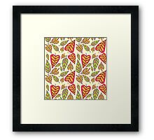 Foliage pattern Framed Print