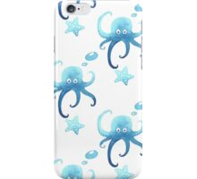 Octopus seamless watercolor pattern iPhone Case/Skin