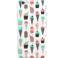 Ice Cream - Summer fresh modern minimal print pattern design gifts for college  iPhone Case/Skin