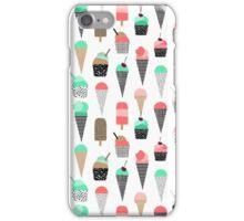 Ice Cream - Summer fresh modern minimal print pattern design gifts for college  iPhone Case/Skin