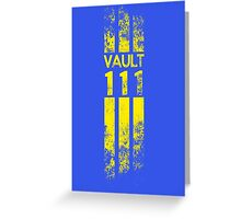 Vault 111 Greeting Card