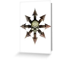The Symbol of Chaos Greeting Card