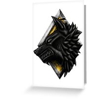 Viking Wolf Head Greeting Card