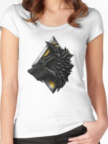 Viking Wolf Head Women's Fitted Scoop T-Shirt